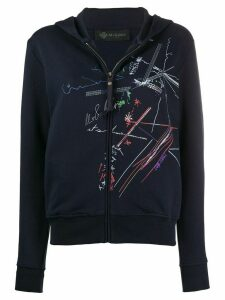 Mr & Mrs Italy graphic print hoodie - Blue