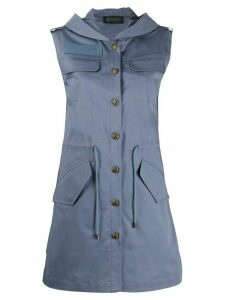 Mr & Mrs Italy button mini dress - Blue