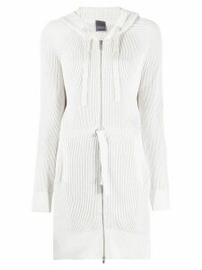 Lorena Antoniazzi long-line hooded cardigan - NEUTRALS