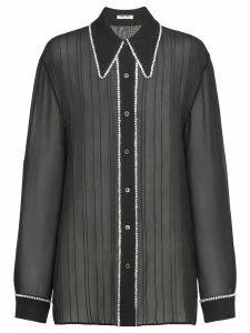 Miu Miu Georgette blouse - Black