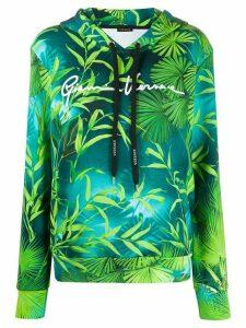 Versace leaf print hoodie - Green