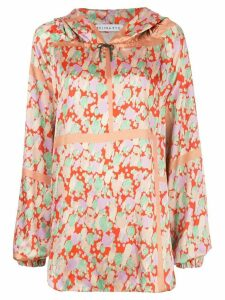 Rejina Pyo oversized abstract print hoodie - NEUTRALS
