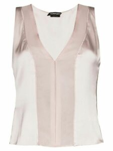 Tom Ford sheer panel tank top - NEUTRALS