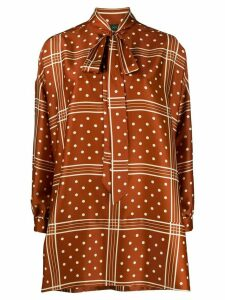 Jejia relaxed fit polka dot print blouse - Brown