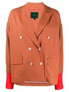 Jejia layered style boxy fit blazer - Brown