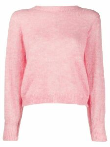 Masscob textured knit cropped sleeve jumper - PINK