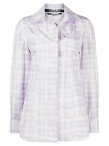 Jacquemus Valensole cut-out checked shirt - PURPLE