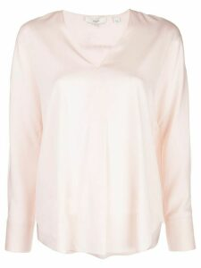 Vince V-neck boxy blouse - PINK