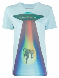Paco Rabanne Rainbow Cat print round neck T-shirt - Blue
