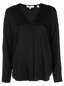Vince v-neck boxy blouse - Black
