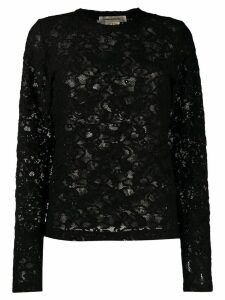 Comme Des Garçons all-over lace pullover top - Black