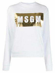 MSGM metallic logo jumper - White