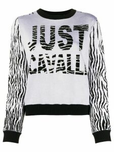 Just Cavalli color-block intarsia knit jumper - Grey