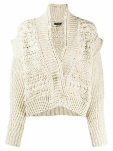Isabel Marant chunky knit cardigan - NEUTRALS