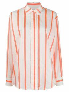Victoria Beckham striped print shirt - White