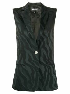 Just Cavalli embroidered sleeveless waistcoat - Black