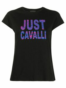 Just Cavalli zebra-print logo T-shirt - Black