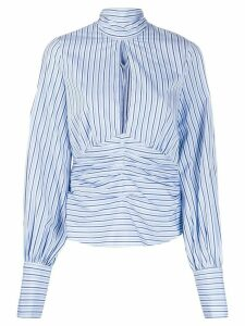 Victoria Victoria Beckham split front striped top - Blue
