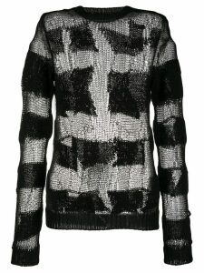 Unravel deconstructed crocheted jumper - Black