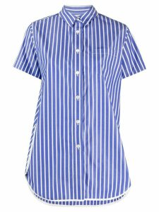 Sacai loose fit striped shirt - Blue