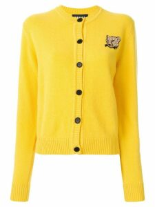 Markus Lupfer leopard patch button-up cardigan - Yellow