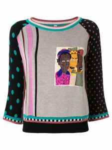 Antonio Marras mixed-pattern slim-fit jumper - Multicolour