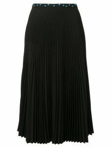 Markus Lupfer pleated flower embellished skirt - Black