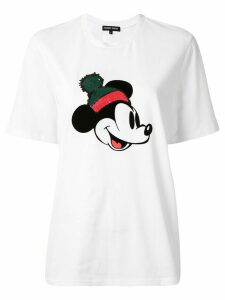 Markus Lupfer sequin Mickey Mouse T-shirt - White