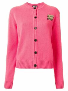 Markus Lupfer leopard patch cardigan - PINK