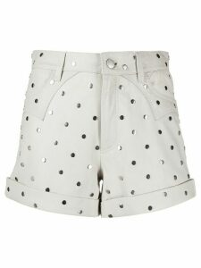 Zadig & Voltaire Fashion Show Scott stud-embellished shorts - NEUTRALS