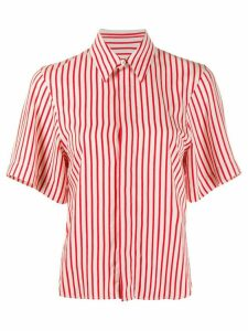 Ami Paris Invisible Button Placket Short Sleeves Shirt - Red