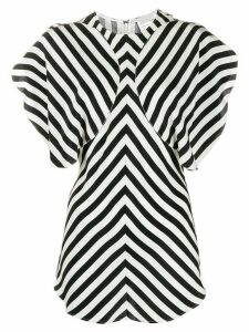 Stella McCartney stripe-panel blouse - Black