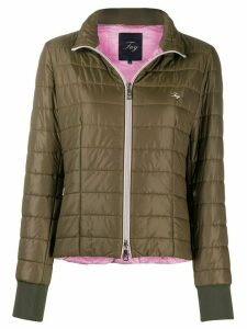 Fay embroidered logo puffer jacket - Green