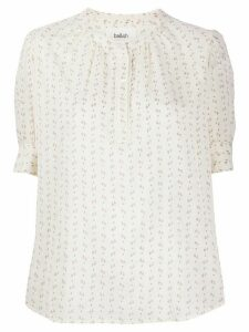 Ba & Sh embroidered short-sleeve blouse - NEUTRALS