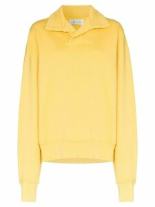 Les Tien collared long-sleeve sweatshirt - Yellow