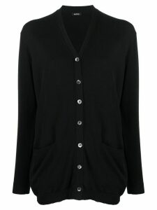 Aspesi v-neck cardigan - Black