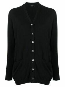 Aspesi v-neck cardigan - Black