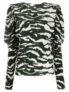 Isabel Marant Favallia zebra-print blouse - Black