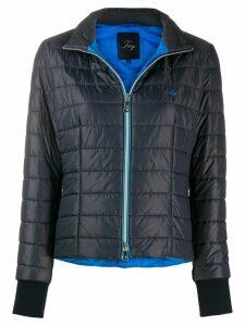 Fay zip-up padded jacket - Blue
