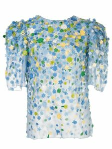 Carolina Herrera puff sleeve blouse - Blue