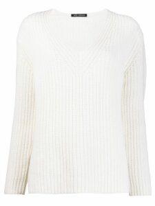 Iris Von Arnim chunky knit jumper - White