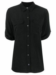 Equipment 3/4 sleeves silk shirt - Black