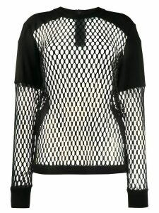 No Ka' Oi mesh long-sleeved top - Black