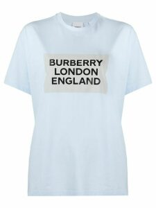 Burberry oversized logo T-shirt - Blue