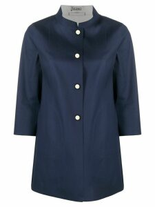 Herno band-collar 3/4 length sleeved jacket - Blue