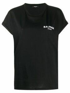 Balmain logo print T-shirt - Black
