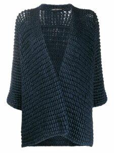 Iris Von Arnim chunky knit cardigan - Blue