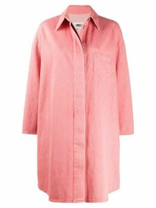 Mm6 Maison Margiela shirt-style oversized coat - PINK