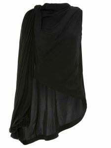 JW Anderson draped one-shoulder blouse - Black