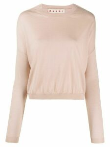 Marni drop-shoulder sweater - NEUTRALS